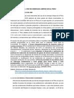 4 Importancia Del Uso de Energias Limpias en El Peru Darwin