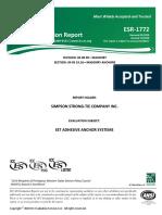 ICC Council - Evaluación de Sistema anclaje adhesivo Simpson Strong Tie Company