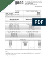 Price List UDITCH Dan Conpipe