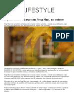 Equilibrando a Casa Com Feng Shui No Outono