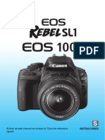 Manual Canon EOS Rebel SL1