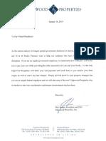 Jack Morris' letter to renters