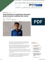 Kisah Edi Hartono Membangun Kelompok Usaha Kontainer Modifikasi Dan Kuliner