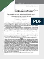 Calidad Sanitaria Del Agua de La Ciénaga Mata de Palma en El Departamento Del Cesar - Avila Estupiñan