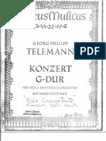 TELEMANN Concerto Viola Gmaior