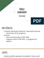 Durkheim Positivismo
