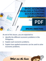 3 Basic Economic Problems and Philippine Socioeconomic Development in the 21st Century