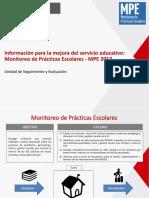 Información Para La Mejora Del Servicio Educativo Monitoreo de Prácticas Escolares-MPE 2017