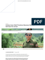 Arakan Army Chief Promises Myanmar Military, Govt Eye for an Eye -  Interview with Arakan Army - Major General Twan Mrat Naing