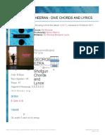 ED SHEERAN - Dive Chords and Lyrics | ChordZone.org.pdf
