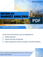4 Review of the Market Analysis