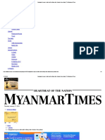 Bangladesh Says No Talks With Military After Arakan Army Attack _ the Myanmar Times