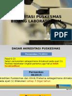 Akreditassi Puskesmas Bidang Laboratorium