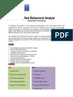 Certified Behavioral Analyst