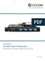 Card Variable Optical Attenuator Works With Edfa