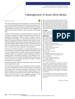 The Diagnosis and Management of Acute Otitis Media