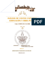 ANALISIS DE COSTOS UNITARIOS, EDIFICACIÓN Y OBRA PESADA.docx