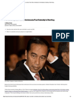 For Jokowi, Real Test on Indonesia Fuel Subsidy is Starting - Bloomberg