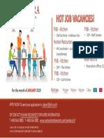Hot! Job Vacancies (Jan 2019)New