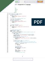 Assignment in c Language Programming c