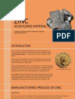 ZINC as Building Material ABM