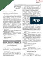 Proyecto de Reglamento de Procedimiientos Mineros