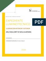 1. Memoria Descriptiva Expediente Luminotecnico