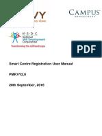 Pmkvy2.0 Smart Centre User Manual for Registration