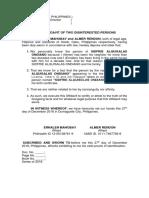 Affidavit of Two Disinterested