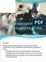 2. Pendekatan Dalam Pendidikan Dan Pelatihan Klinik