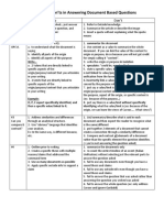 The Dos and Donts of Document Analysis