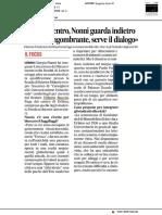 Fuga dal centro, Nonni guarda indietro - Il Corriere Adriatico del 16 gennaio 2019
