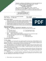 Soal Uub Bahasa & Sastra Inggris Kelas x Mipa-ips