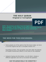 The Holy Quran - Original or Corrupted?