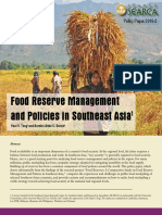 SEARCA Food Reserve Management and Policies in Southeast Asia