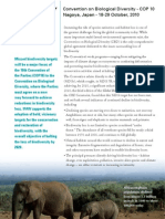 IFAW 10th Convention on Biodversity - Fact Sheet