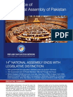 FAFEN 14th National Assembly of Pakistan Performance Report 2013 2018