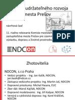 Masterplán dopravy Prešov - Stratégia udržateľného rozvoja dopravy mesta