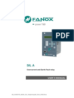 SIL-A Overcurrent and Earth-Fault relay User Manual