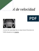 Control de Velocidad - Wikipedia, La Enciclopedia Libre