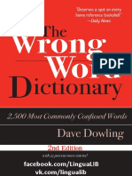 Wrong Word Dictionary 2 500 Most Commonly Confused Words