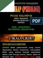 SKALA  SIKAP  (PSIKOLOGIS)