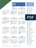 calendar 2019 - best