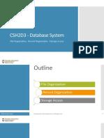 01 File Record Organization & Storage Access