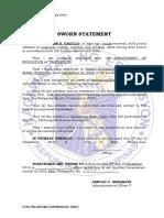 Sworn Statement for Public Employees