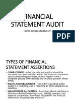 Internal Audit Financial Statement Audit