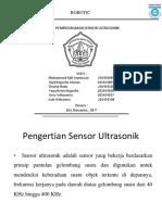 Tugas Kelompok Robotik Sensor Ultrasonik