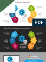 FF0171!01!6 Step Creative Comparison Diagram for Powerpoint