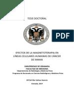 Magnetoterapia en Lineas Celulares de Cancer Tesis