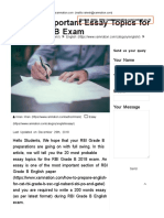 20 Most Important Essay Topics for RBI Grade B Exam - Xamnation